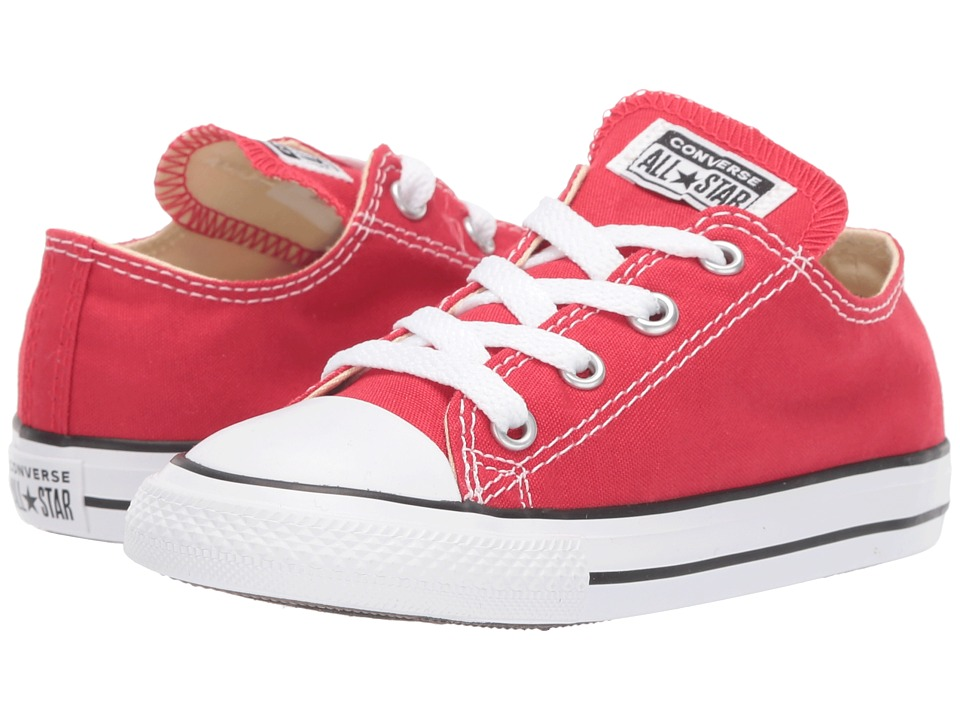Converse Kids Chuck Taylor All Star Core Ox (Infant/Toddler) (Red) Kids Shoes
