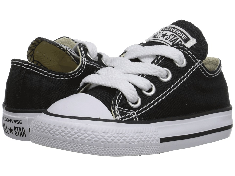 Converse Kids Chuck Taylor All Star Core Ox (Infant/Toddler) (Classic Black) Kids Shoes
