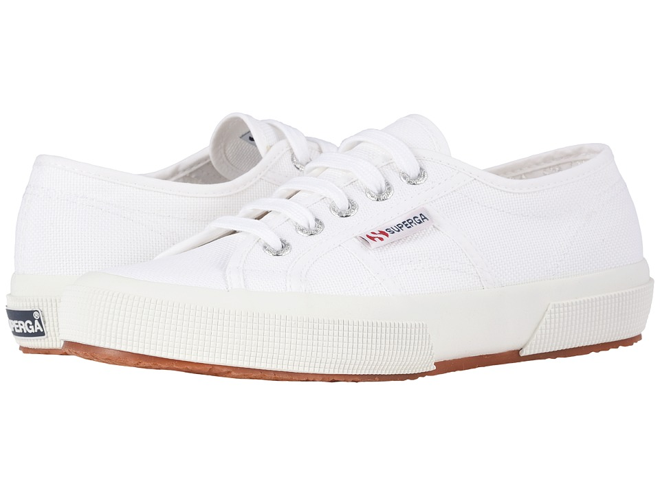 Superga 2750 COTU Classic White Lace up casual Shoes