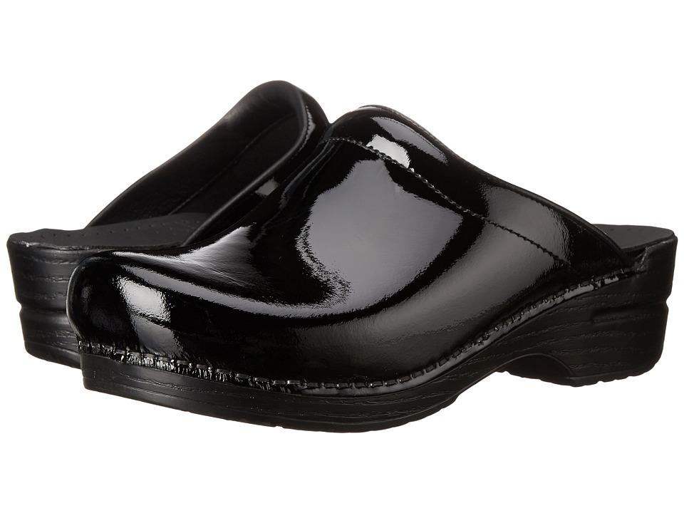 Dansko Sonja (Black Patent) Women's Clog Shoes