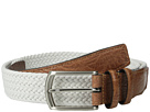 Torino Leather Co. 32MM Italian Woven Multi Cotton Elastic (White)