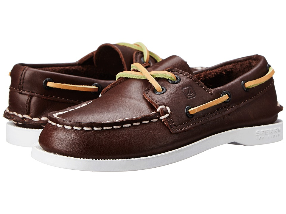 Sperry Top-Sider Kids A/O (Toddler/Little Kid/Big Kid) (Brown) Kids Shoes