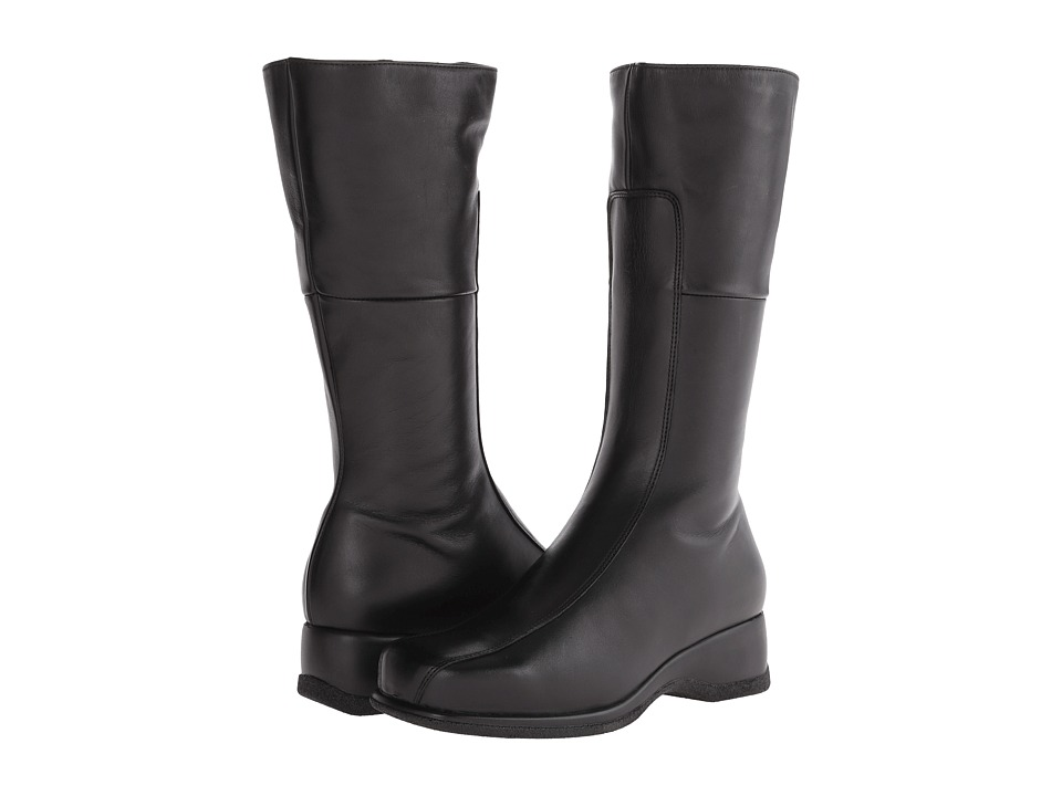 La Canadienne Blanche (Black Leather) Women's Zip Boots