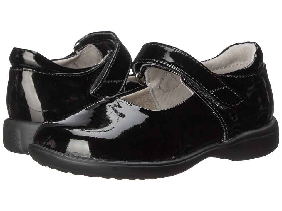 Jumping Jacks Kids Abby Toddler/Little Kid/Big Kid Black Shiny Girls Shoes