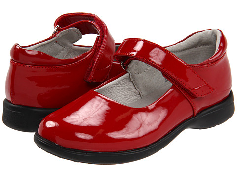 Abby Shoes (Toddler/Little Kid/Big Kid) (Red Shiny) Girls Shoes by ...
