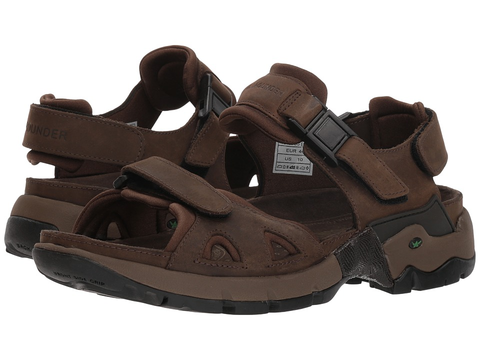 Allrounder by Mephisto - Alligator (Brown Waxy Leather/Dark Brown Neoprene) Men's Sandals