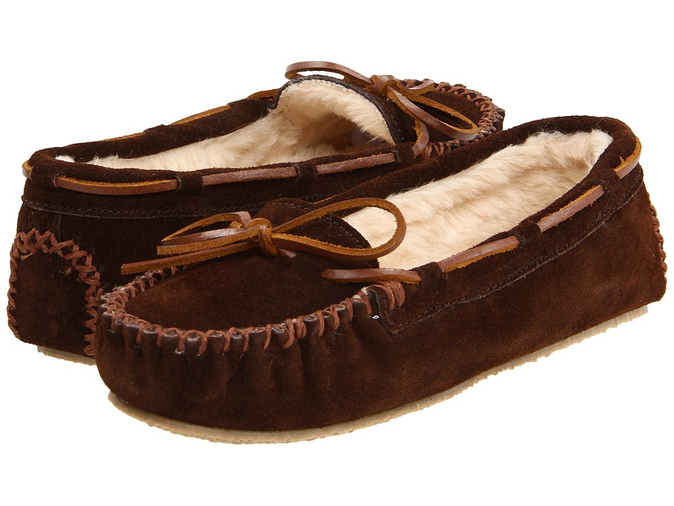 Minnetonka Cally Slipper (Chocolate Suede) Women's Moccasins