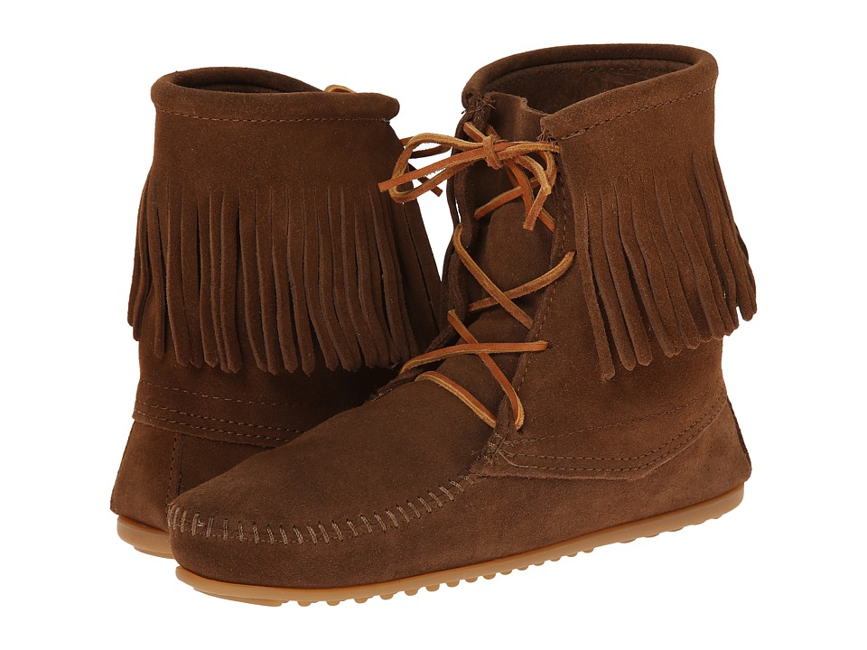 Minnetonka Tramper Ankle Hi Boot (Dusty Brown Suede) Women