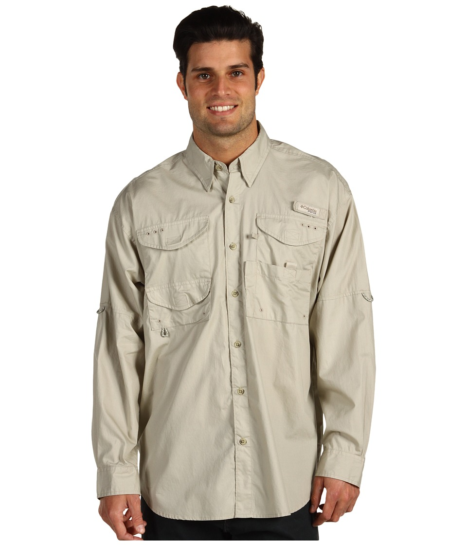 Columbia - Boneheadtm L/S Shirt (Fossil) Mens Long Sleeve Button Up