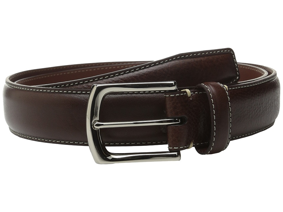 Torino Leather Co. 35MM Burnished Tumbled Brown Mens Belts
