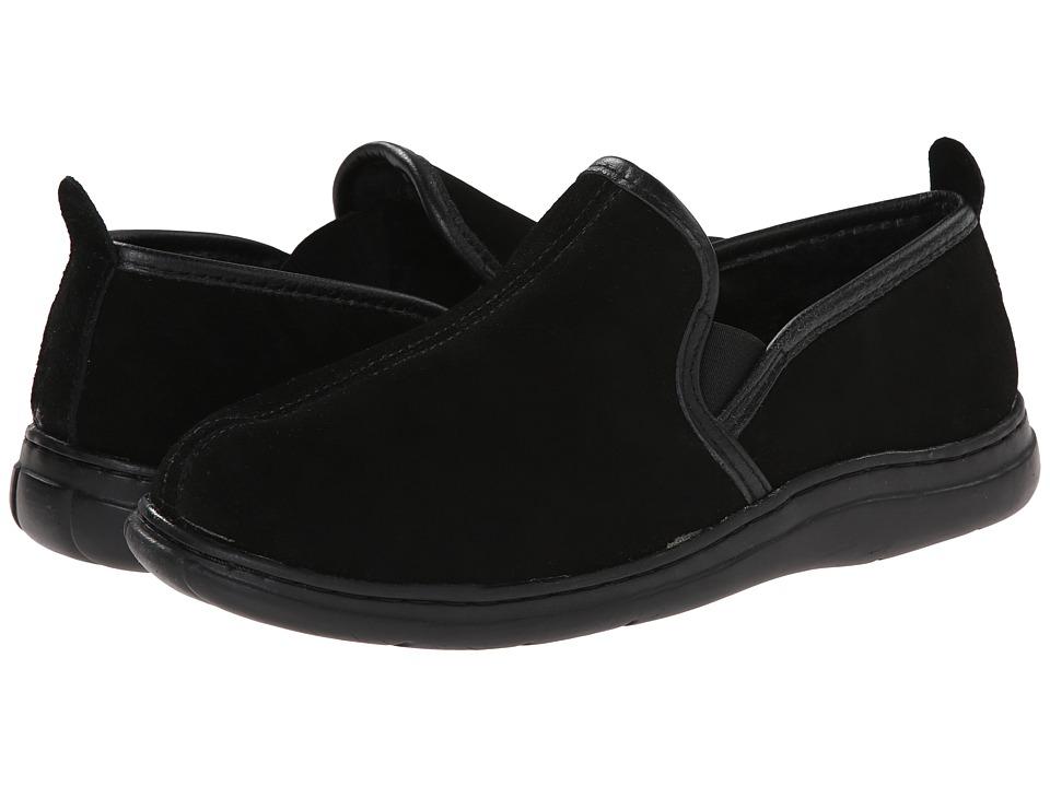L.B. Evans - Klondike (Black Suede) Mens Slippers