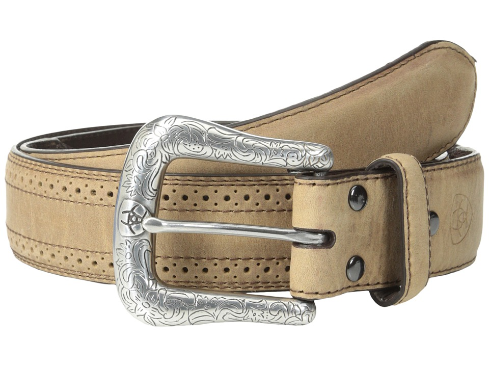 Image of Ariat - 10004667 (Perf Edge Distressed Brown) Men's Belts