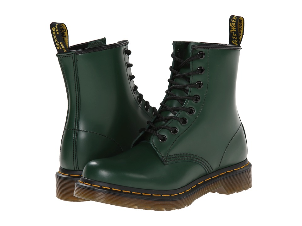 Dr. Martens - 1460 W (Green Smooth) Women