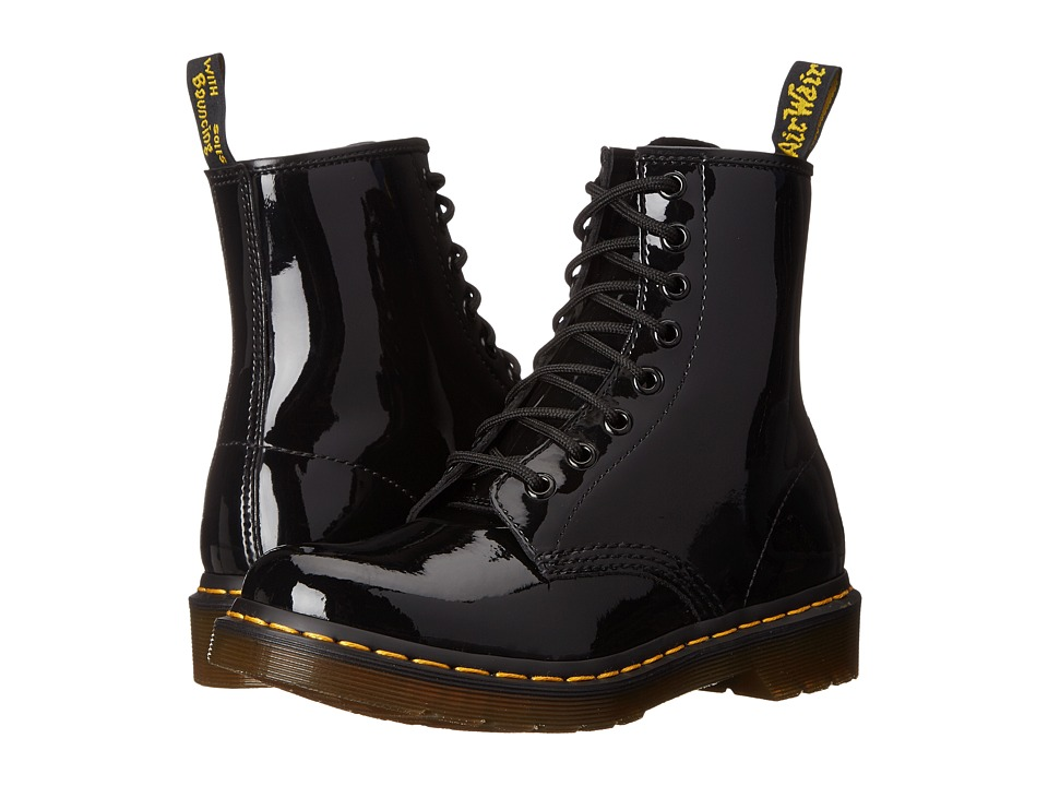 Dr. Martens - 1460 W (Black Patent Lamper Leather) Womens Lace-up Boots