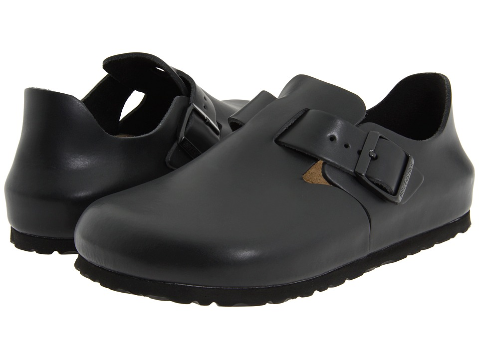 Birkenstock London (Hunter Black Leather) Slip on Shoes, wide width womens shoes, wide fitting, comfort, footwear, shoes, WW