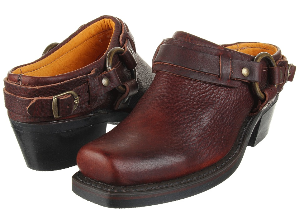 Frye Belted Harness Mule (Chestnut Leather)