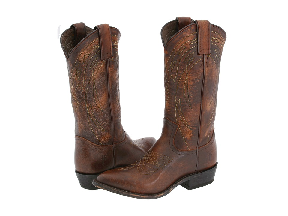 Frye Billy Pull On (Dark Brown Leather) Cowboy Boots