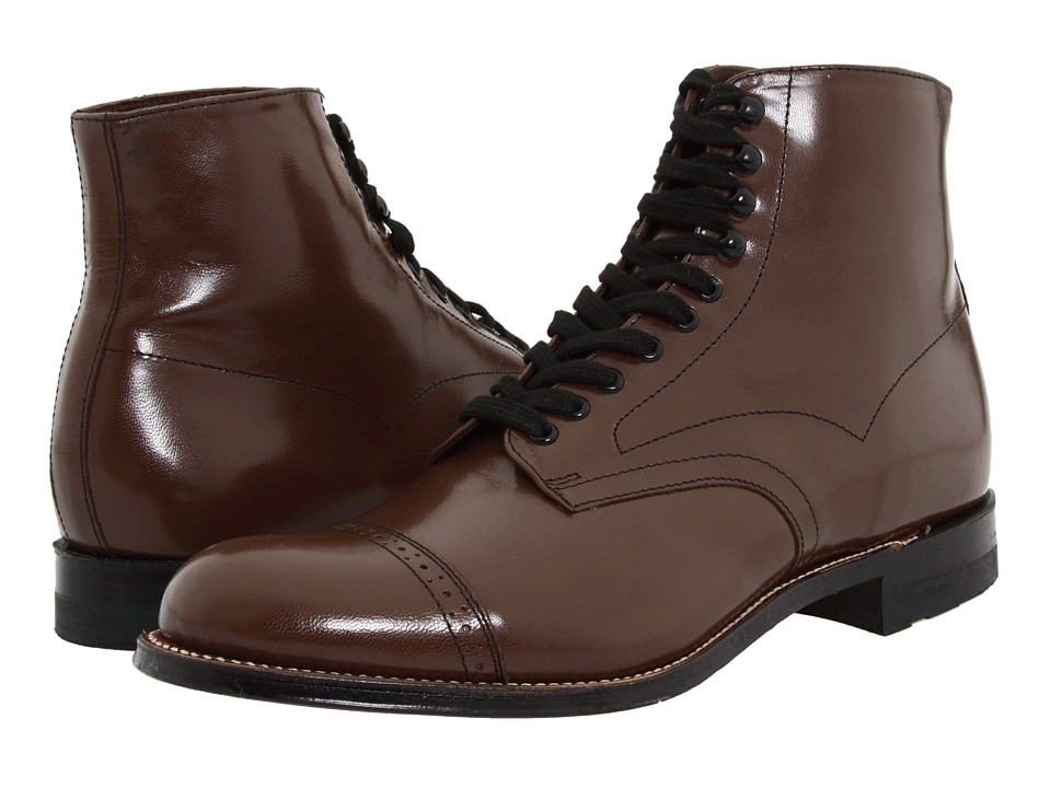 Mens Vintage Style Shoes| Retro Classic Shoes Stacy Adams - Madison Boot Brown Mens Shoes $135.00 AT vintagedancer.com
