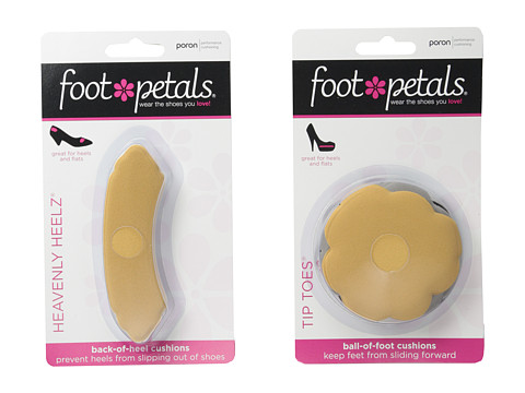Foot Petals Tip Toes 3-Pair Pack & Heavenly Heelz 3-Pair Pack Combo