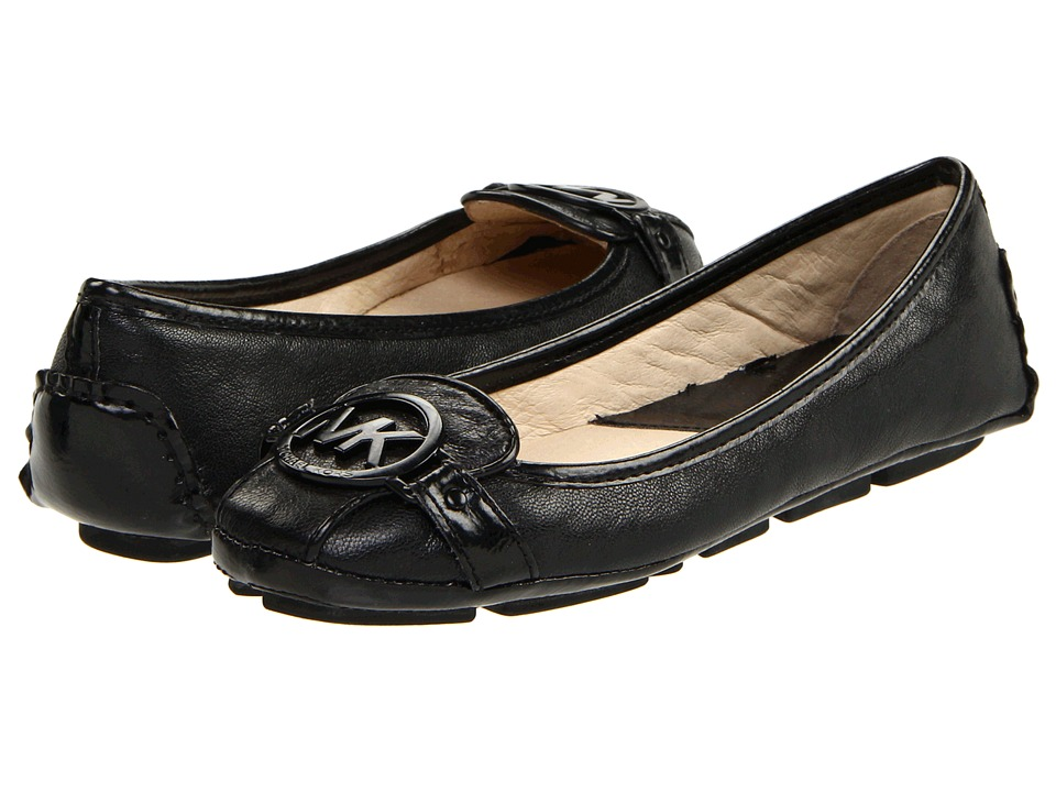 MICHAEL Michael Kors Fulton Moc (Black Leather) Slip-On Shoes