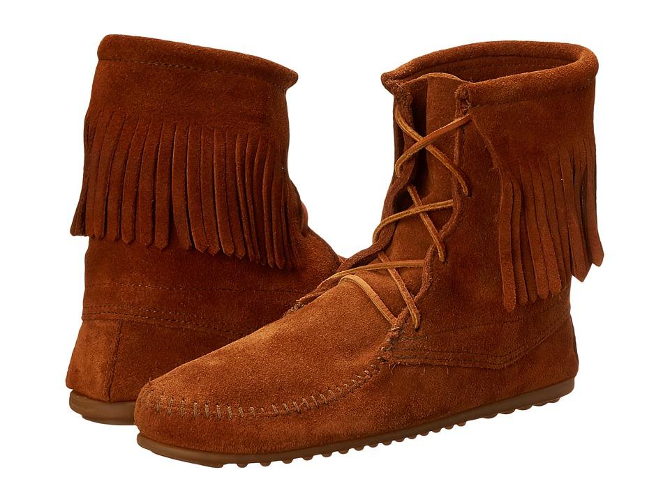 Minnetonka Tramper Ankle Hi Boot (Brown Suede) Women