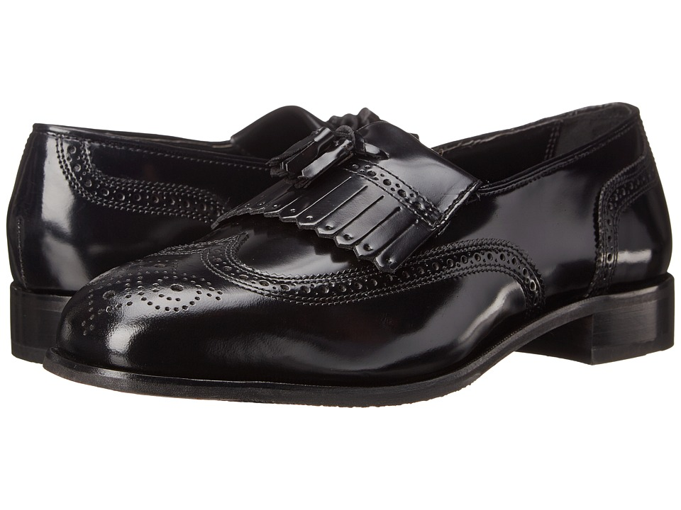 Florsheim - Lexington Wingtip Tassel Slip-On Black Mens Slip-on Dress Shoes $110.00 AT vintagedancer.com