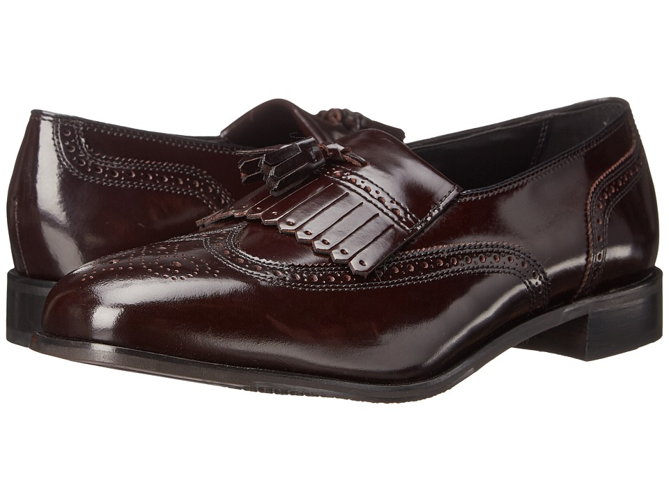 Florsheim - Lexington Wingtip Tassel Slip-On Wine Legacy Mens Slip-on Dress Shoes $110.00 AT vintagedancer.com