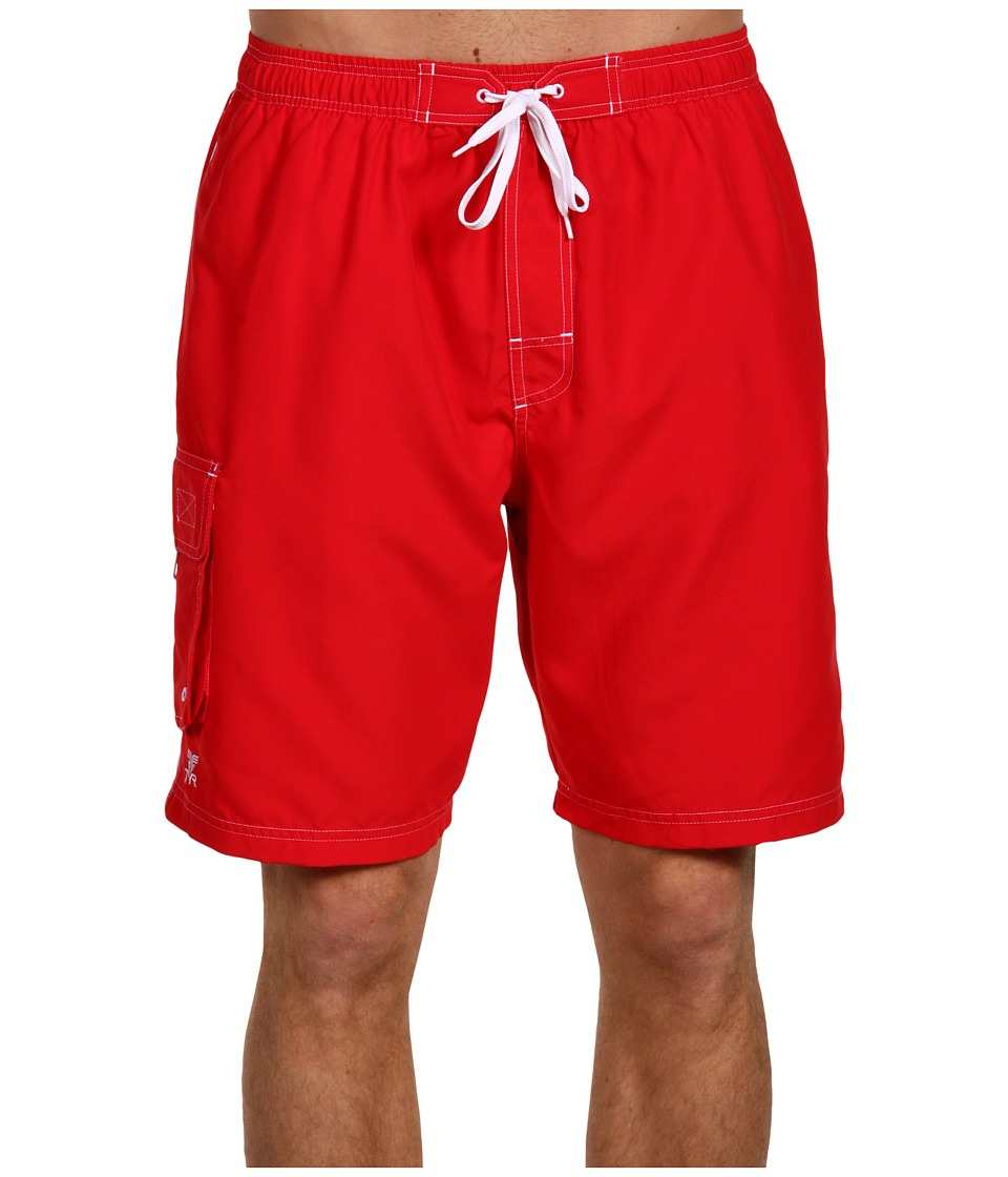 TYR Challenger Trunk Red Mens Swimwear