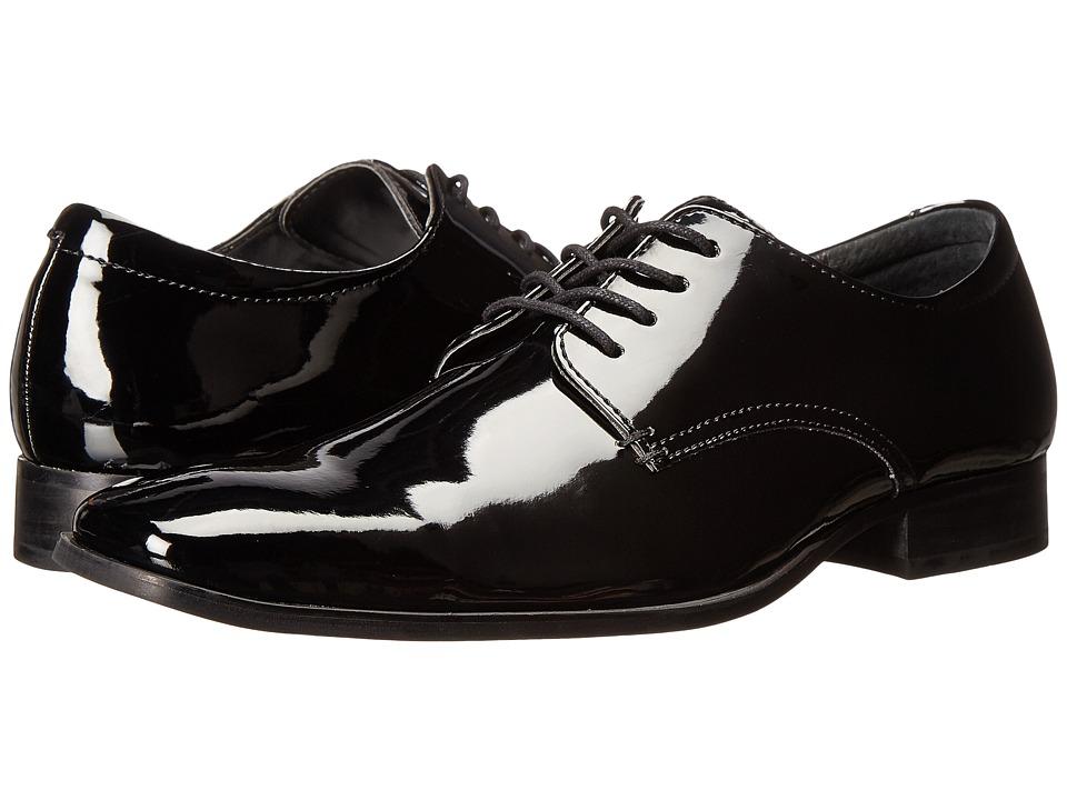 Calvin Klein - Gareth 2 Black Patent Mens Plain Toe Shoes $120.00 AT vintagedancer.com