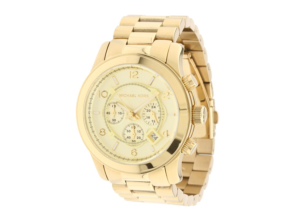 Michael Kors - MK8077 - Runway Chronograph (Gold) Watches