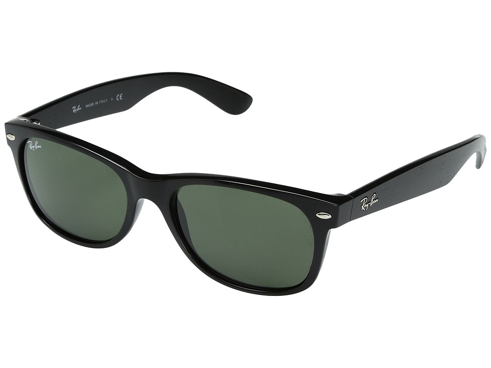 Ray-Ban RB2132 New Wayfarer 52mm (Black/G-15xlt Lens) Sport Sunglasses