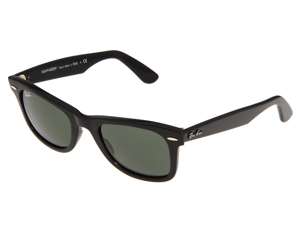 Ray-Ban RB2140 Original Wayfarer 50mm (Black/G-15xlt Lens) Plastic Frame Fashion Sunglasses