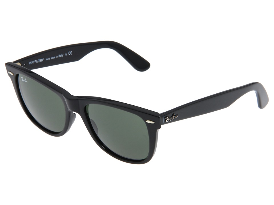 Ray-Ban - RB2140 Original Wayfarer 54mm (Black/G-15xlt Lens) Sport Sunglasses