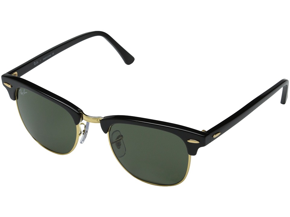 Ray-Ban RB3016 Clubmaster 49mm (Ebony/Artista/G-15xlt Lens) Sport Sunglasses