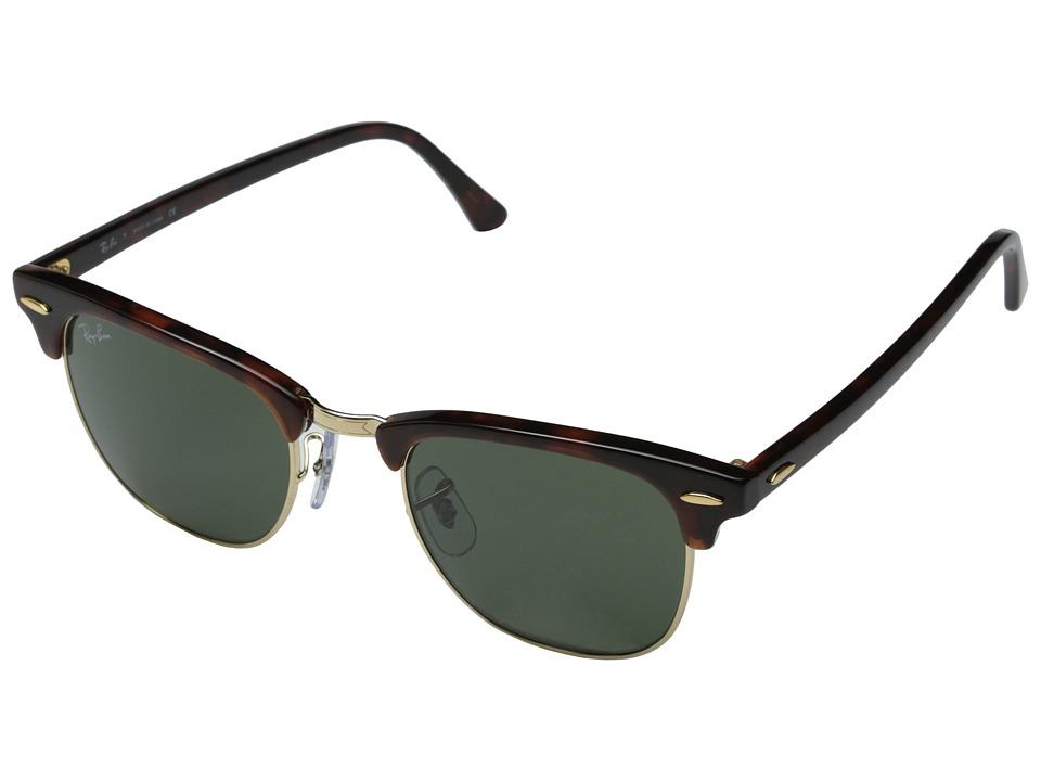 Ray-Ban RB3016 Clubmaster 49mm (Mock Tortoise/Arista/G-15xlt Lens) Sport Sunglasses