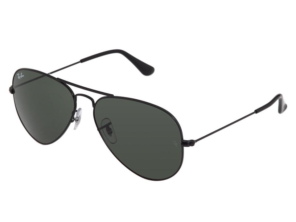 Ray-Ban RB3025 Original Aviator 58mm (Black/G-15xlt Lens) Metal Frame Fashion Sunglasses