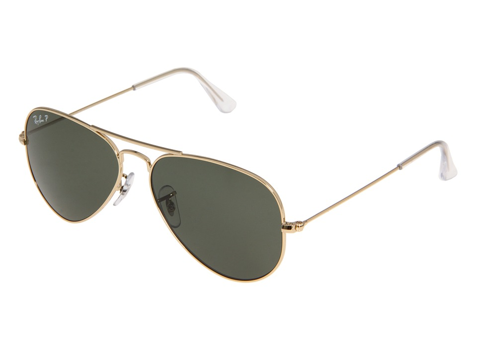 Ray-Ban - 3025 Original Aviator Polarized 55mm (Arista/Natural Green Polarized Lens) Sport Sunglasses
