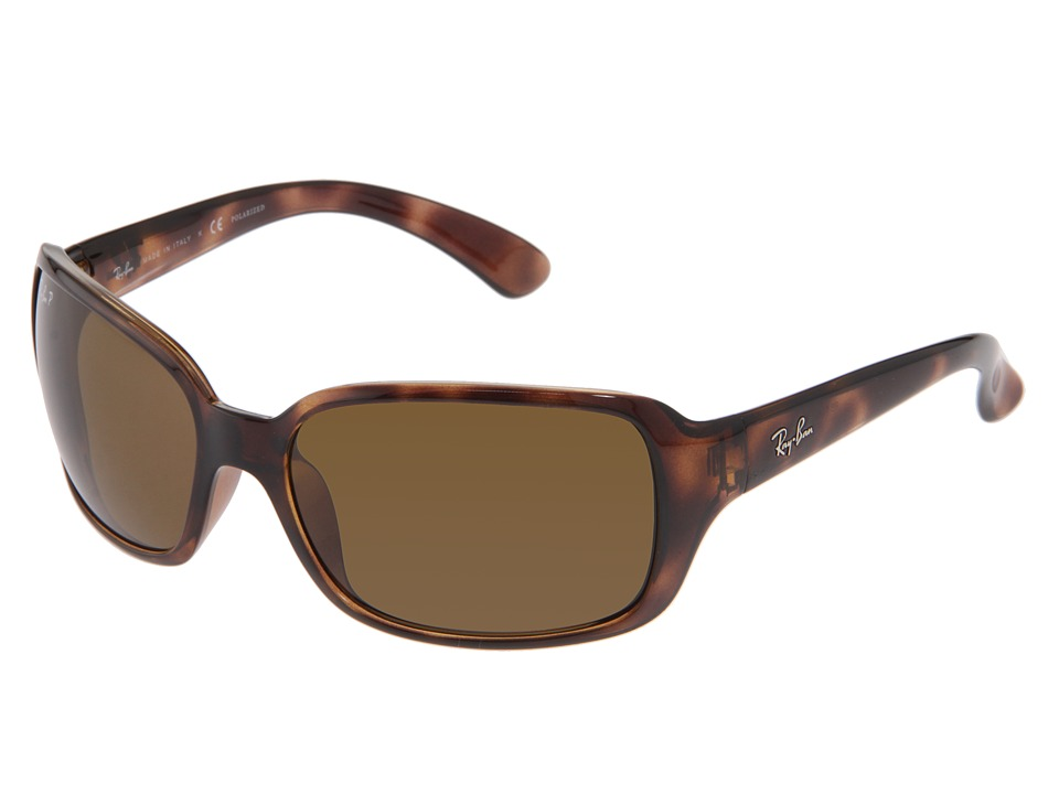 Ray-Ban - RB4068 Polarized (Havana/Natural Brown Polarized Lens) Sport Sunglasses