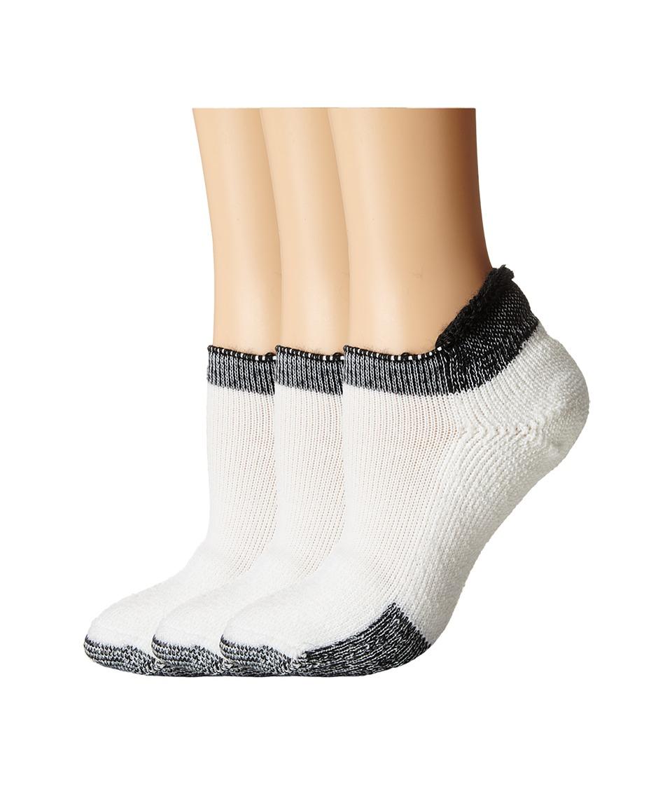 Thorlos - Thick Cushion Tennis Rolltop 3-Pair Pack (Black) Womens No Show Socks Shoes