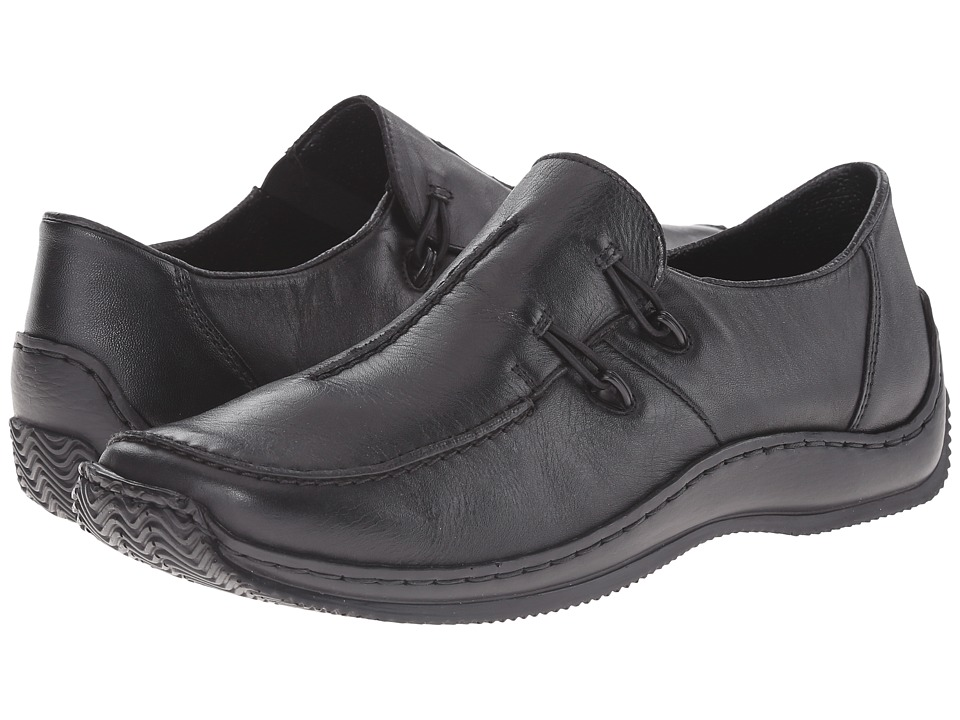 Rieker - L1751 Celia 51 (Black Leather) Womens  Shoes