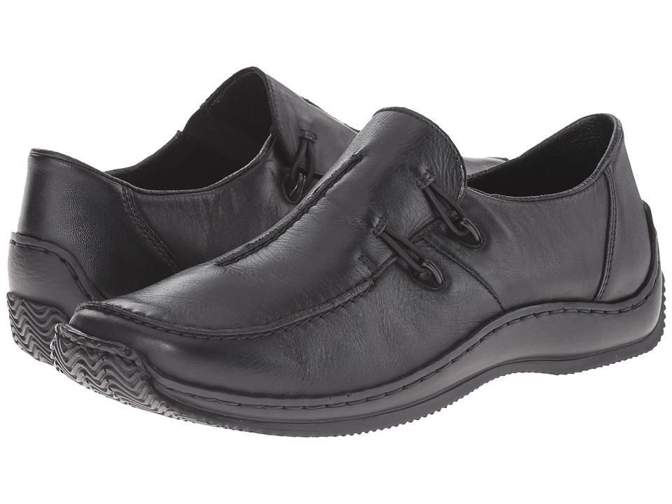 Rieker L1751 Celia 51 (Black Leather) Women's Shoes
