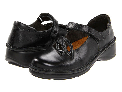 Naot Footwear Primrose - Black Madras Leather/Black Crinkle Patent Leather