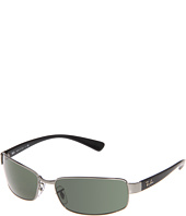 Ray-Ban - RB 3364 Large Metal Rectangular Wrap