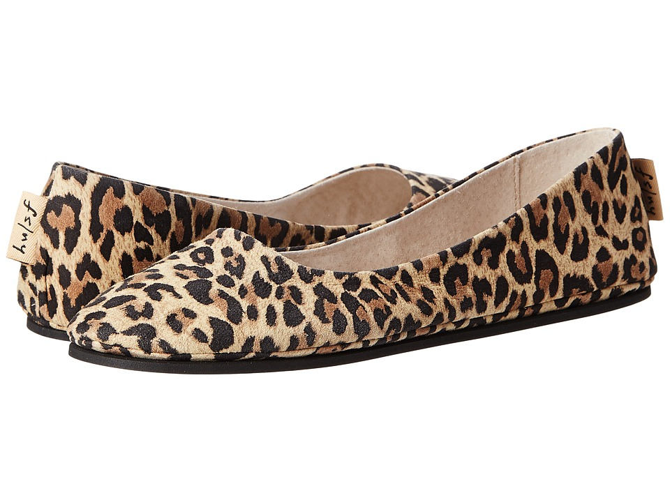 French Sole Sloop Flat (Leopard Suede) Flats