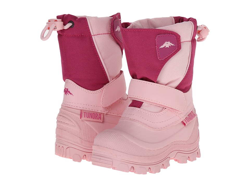 Tundra Boots Kids - Quebec Wide (Toddler/Little Kid/Big Kid) (Pink/Fuchsia) Girls Shoes