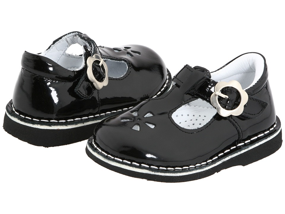Kid Express Molly Toddler/Little Kid/Big Kid Black Patent Girls Shoes