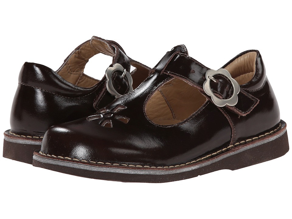 Kid Express Molly Toddler/Little Kid/Big Kid Dark Brown Burnished Leather Girls Shoes