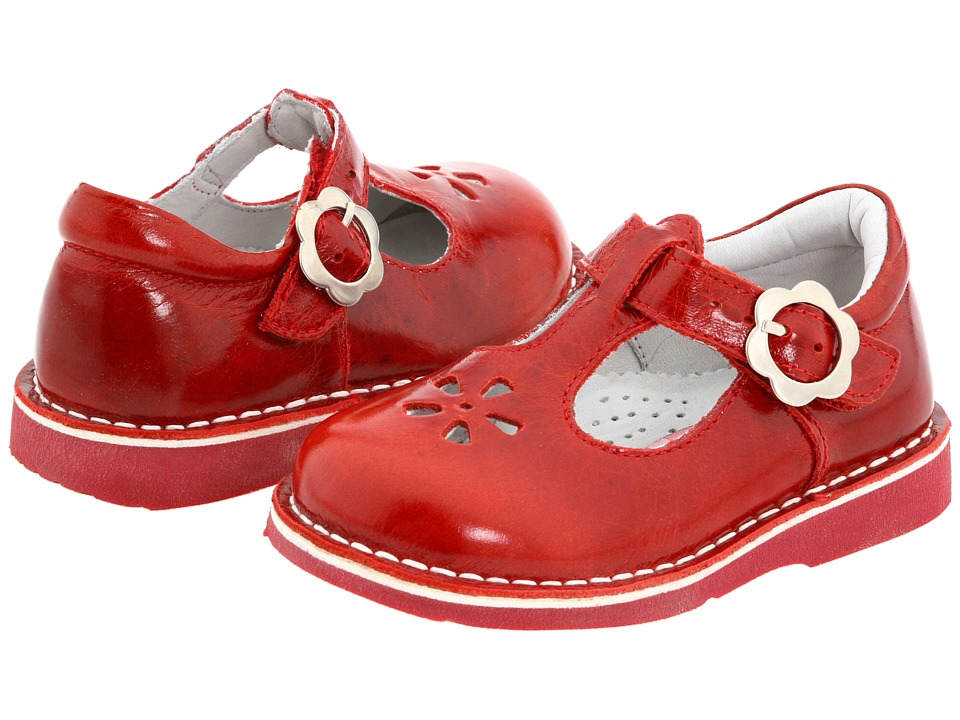 Kid Express Molly Toddler/Little Kid/Big Kid Red Burnished Leather Girls Shoes