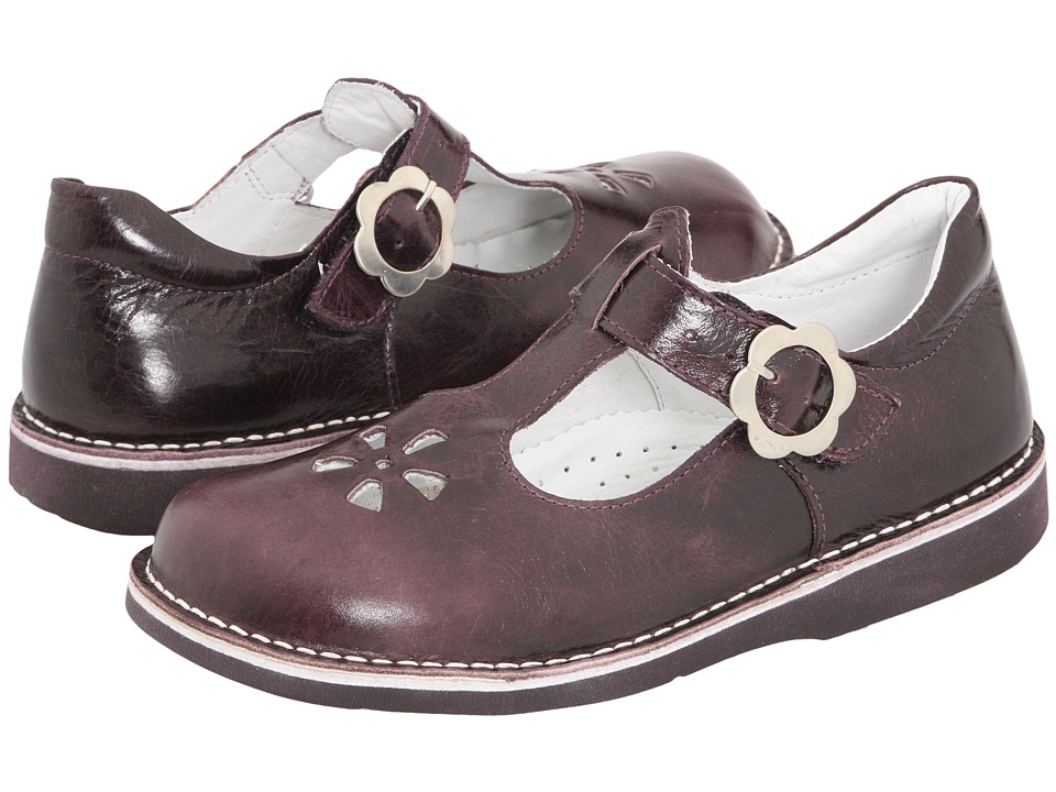 Kid Express Molly Toddler/Little Kid/Big Kid Eggplant Burnished Leather Girls Shoes