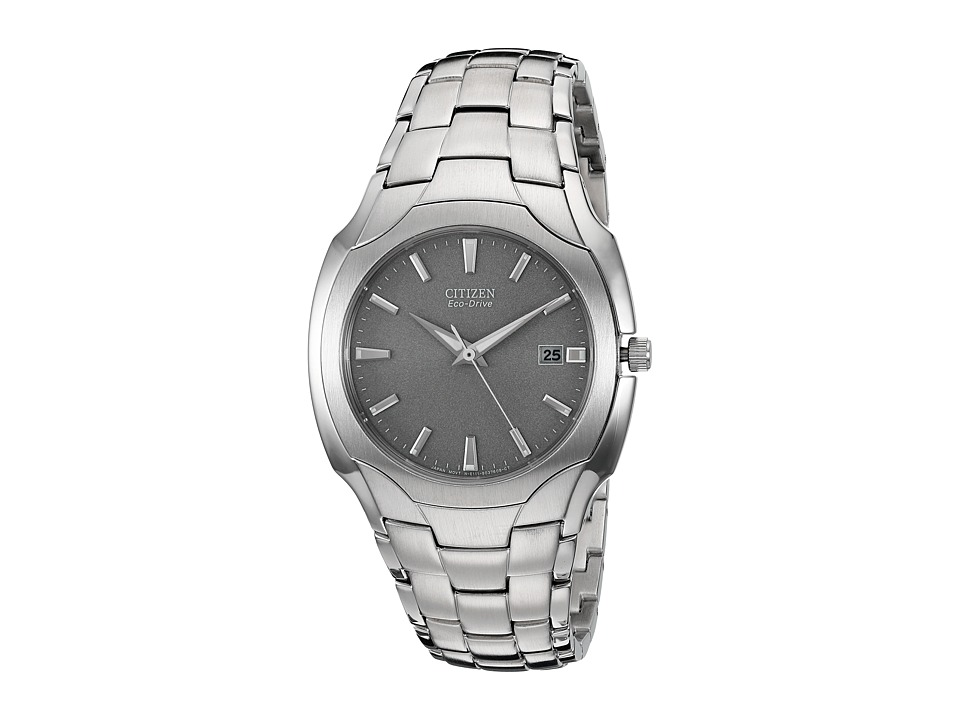 Citizen Watches BM6010 55A Eco Drive Stainless Steel Watch Silver Band/Silver Case/Grey Face Watches